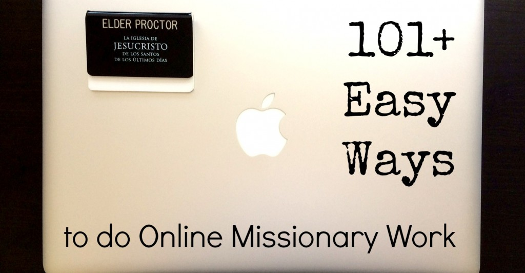 101 ways to do online missionary work