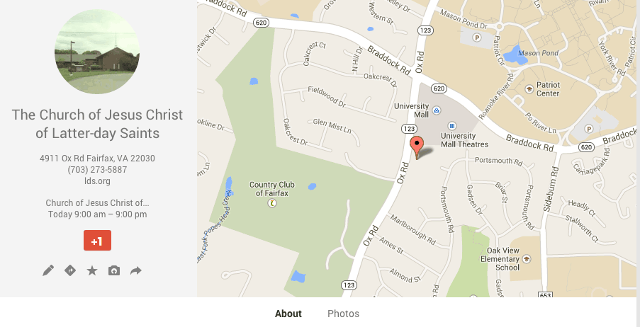Google Maps Review Fairfax Chapel1