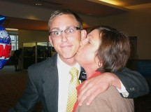 Mom kissing her returned missionary son. photo credit darlingdarleys.blogspot.com