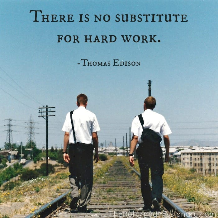 Hard work quote - missionary work
