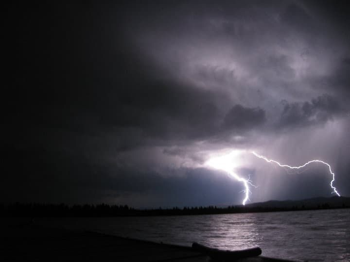 LIghtning Strikes lake - returned missionary
