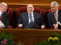 The First Presidency at Conference in 2010