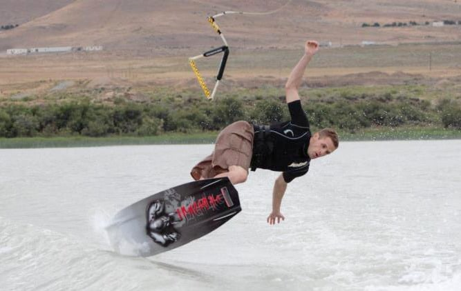 Wakeboard wipeout - Returned Missionary