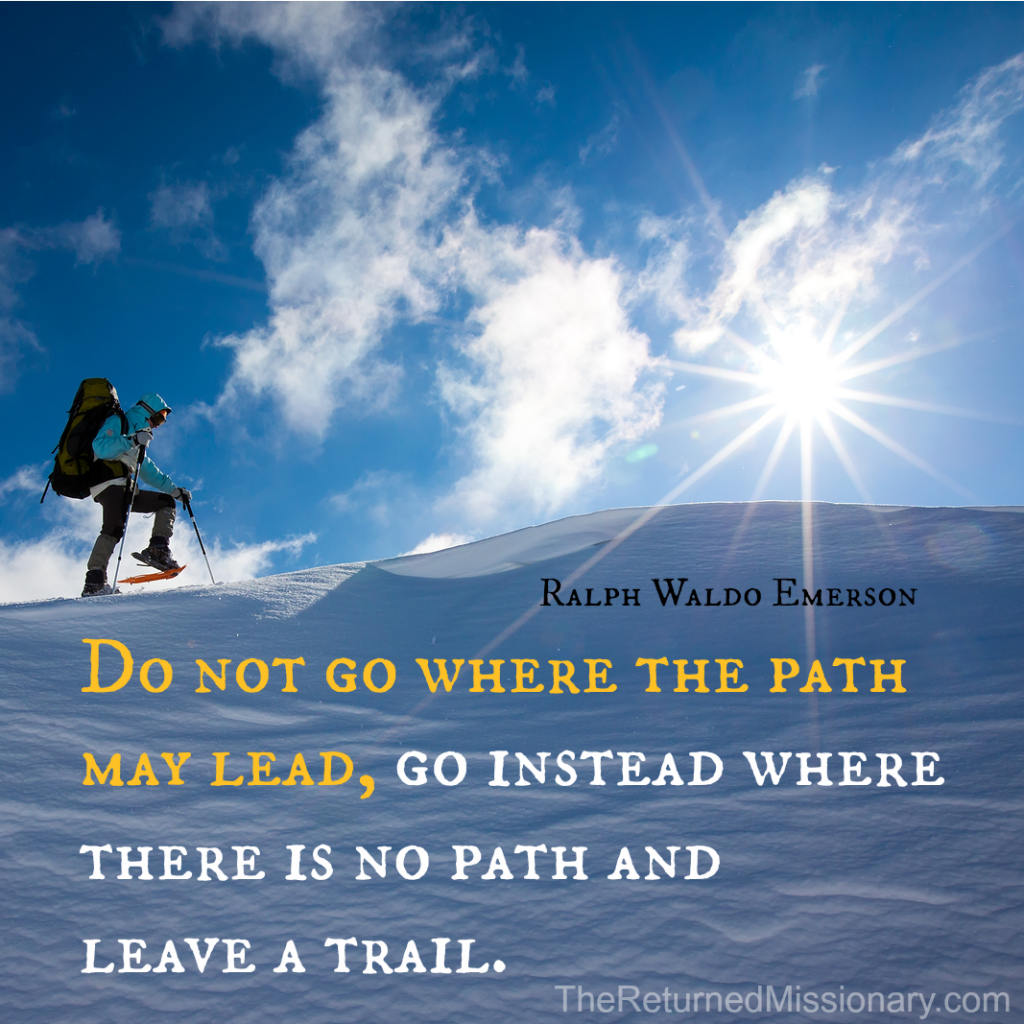 Emerson Quote - Leave a Trail